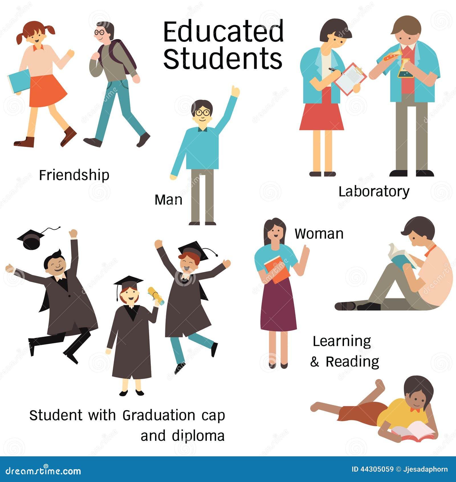 Novedad estudiante para hombres educados 1363